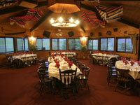 Dining room at Sundance Guest Ranch.