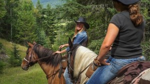 Lots of fun on the trail rides at Tod Mountain Ranch
