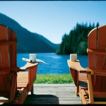 two seats overlooking the water at Clayoquot Wilderness Resort