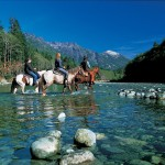 Riding horses at Clayoquot Wilderness Resort