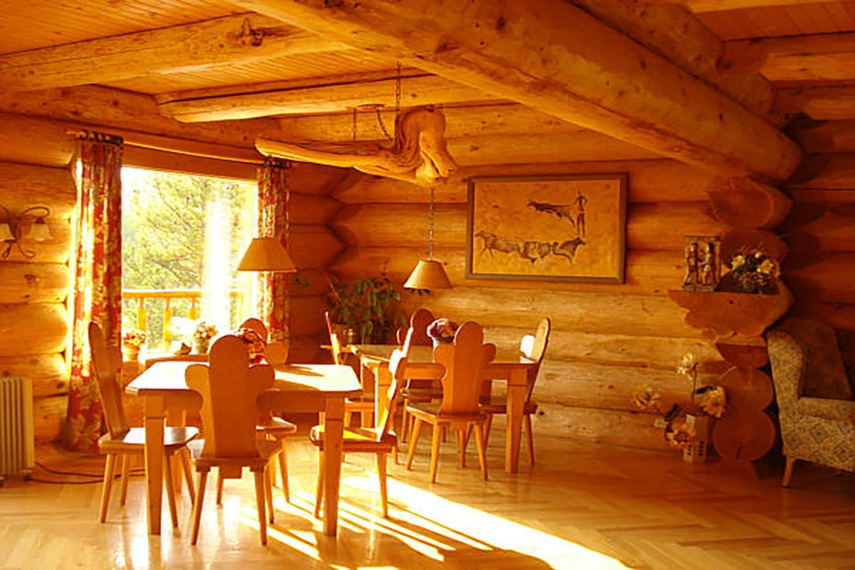 Interior of Big Creek lodge