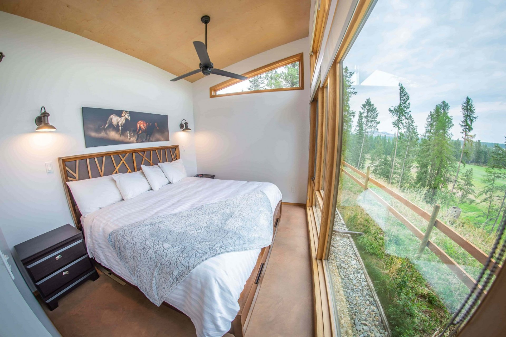 luxury bedroom overlooking the ranch